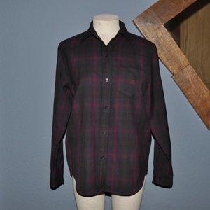 RALPH LAUREN Tartan Plaid 100% Wool Button-Down M